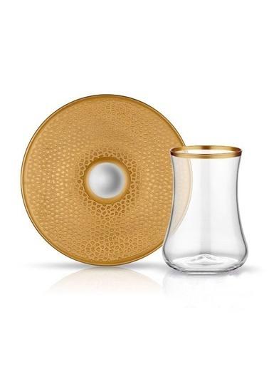 Koleksiyon Dervısh Serpantin Altın 6'Lı Çay Seti Renkli